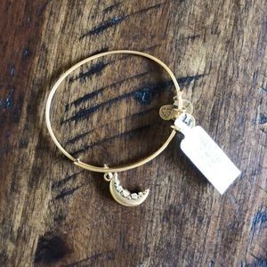 NWT Alex and Ani crescent moon bracelet
